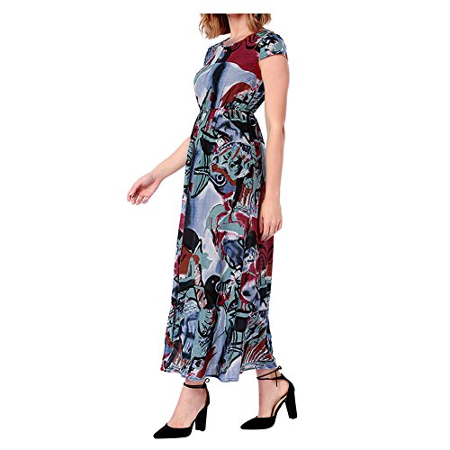 Holiday Women Maxi Xinvision Sleeves Summer Beach Dress B Casual Floral Short Long Print 0pdqfp
