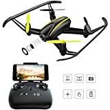 Tomzon Drone with HD Camera, T25 WIFI FPV Navigator RC Quadcopter with 120° Wide-Angle 720P Camera, Altitude Hold, Headless Mode, One Button Take Off and Landing, Emergency Stop