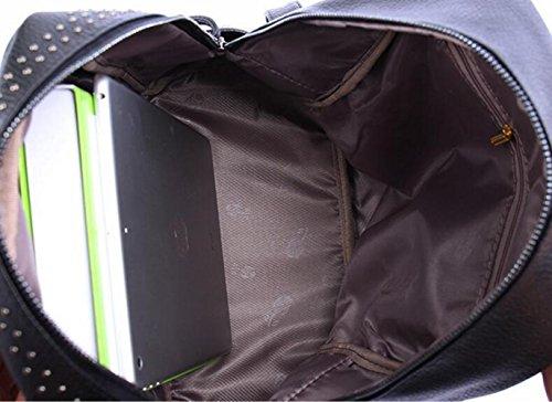 à Bandoulière Portable Bandoulière En à Cuir QXMEI Multifonctionnel PU Sac Sac Black Étudiant Sac gwt818