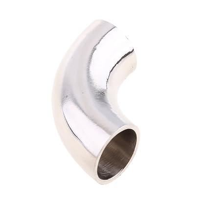 Conector Codo para Guarnición de Tubo 90 Grado de Acero Inoxidable 304 para Barco Rv - Plata 51mm