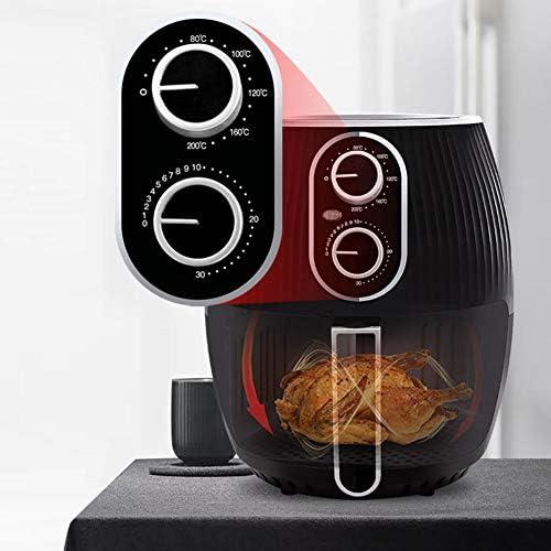 Hetelucht friteuse, 4,5 l elektrische hetelucht friteuse oven olievrije fornuis, volledig cirkel verwarmd cyclonisch systeem, voor braden en opwarmen