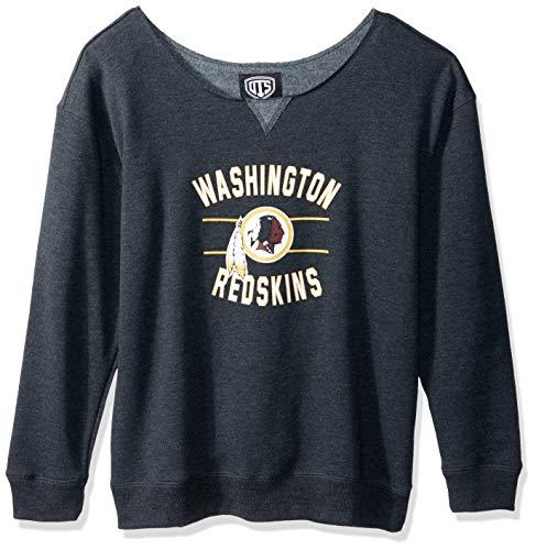 sports shoes 7458f 076af NFL Washington Redskins Women's OTS Singleback Fleece Pullover, Rush  Valley, Large