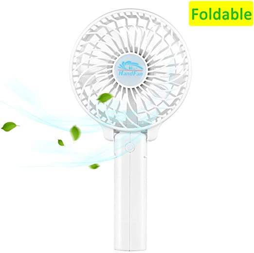 Color : White, Size : One Size USB Table Desk Personal Fan Handheld Portable with USB Rechargeable Mini 2 Speed Mode Electric Fan for Home Office Room Outdoor Traveling for Home Office Table