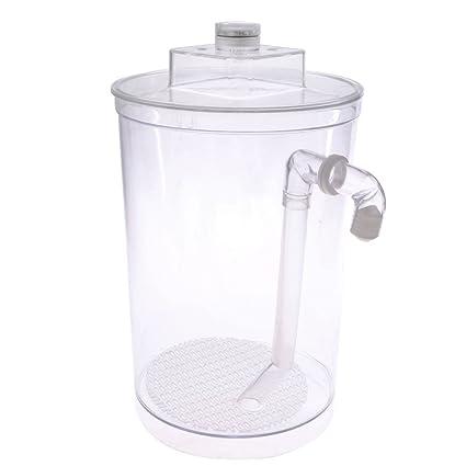 MagiDeal Pecera Tanque de Peces Acuario Accesorios Material Plástico Duradero - Redondo