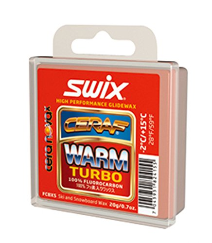 Swix FC8XS Solid Warm Turbo Cera Nova X High Performance Wax, Red, 20gm by Swix