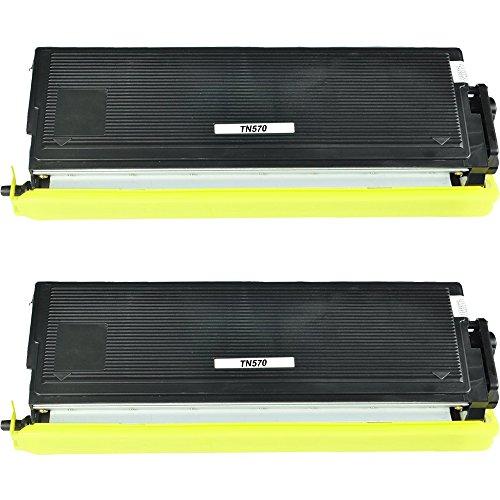 WonderTec Compatible Toner Cartridges Replacement for Brother TN570 TN-570 for DCP-8040 DCP-8045D HL-5130 HL-5140 HL-5150D HL-5170D MFC-8120 MFC-8220 MFC-8440 - Printer(Black 2 Pack 3500 Pages) by WonderTec