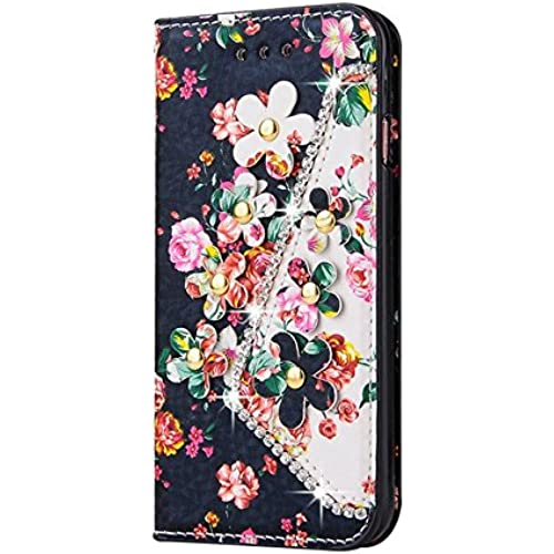 Samsung Galaxy S7 Edge Inch Photo Wallet Card Case,Auroralove Pink Colorful Flower PU Leather Case for Samsung Sales