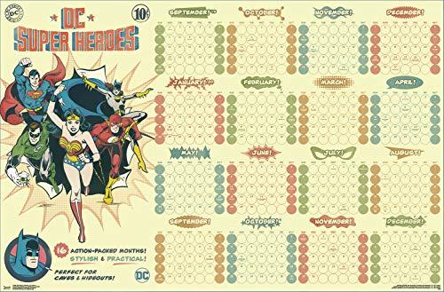Trends International 2020 Calendar-DC Comics Mount Bundle Wall Poster, 22.375