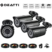 Deatti AHD Security Camera 4Pack 2.0MP 1080P 2000TVL 36PCS IR-LEDs 3.6mm lens with IR Cut Day/Night Waterproof
