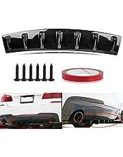 Psler Universal Car 7 Shark Fins Achterbumper Lip Diffuser (Carbon)
