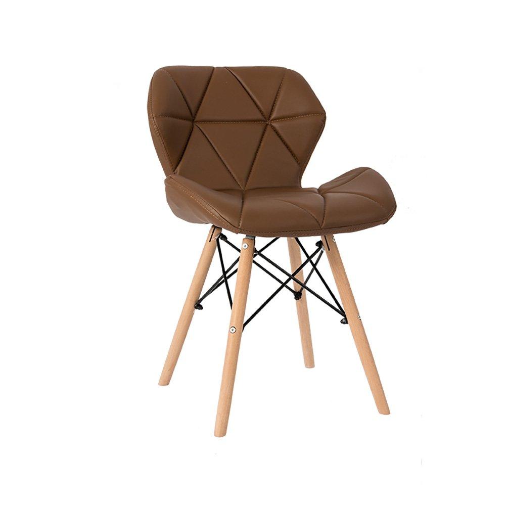 背もたれ椅子ソリッドウッドダイニングチェア背もたれレジャーオフィスミーティングリビングルームスツール (色 : Brown, サイズ さいず : Set of 1) B07FBTHNQT Set of 1|Brown Brown Set of 1