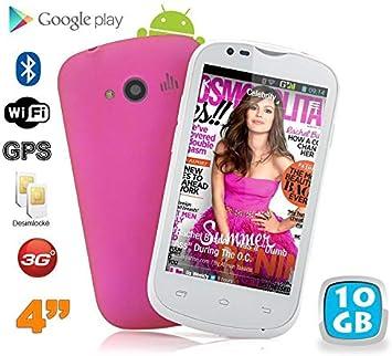 Yonis – Smartphone Android 4 Pulgadas WiFi GPS teléfono Libre 3 G 10 GB Rosa – Rosa: Amazon.es: Electrónica