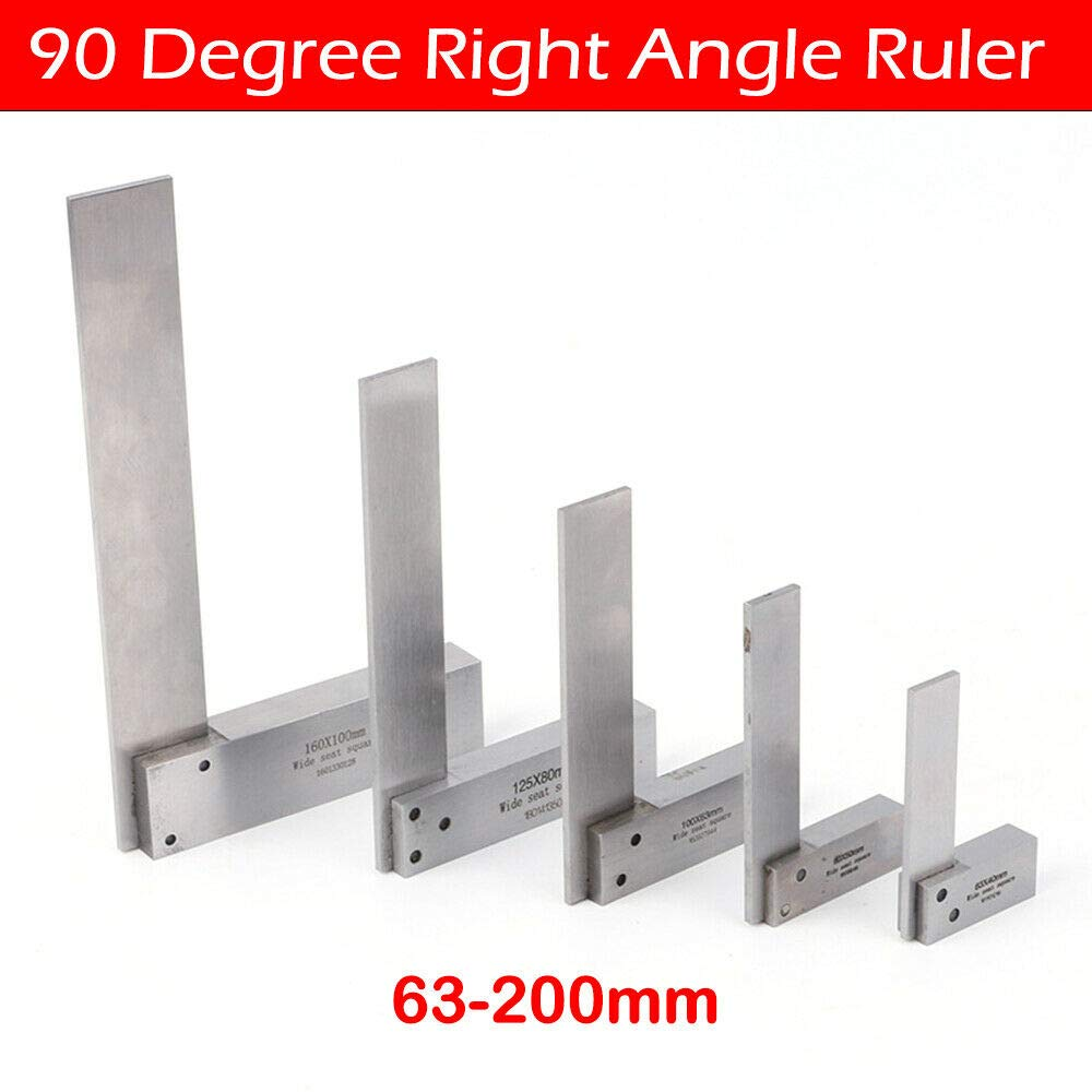 BE-TOOL Enginee Steel Set Square 90 Right Angle Ruler for Measuring Right Angle 63X40mm Engineers Square Includes Plastic Holder Box