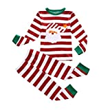 BIBNice Boys & Girls Christmas Pajamas Toddler Cotton Sleepwear Children Clothes Sets (3T, Red)