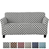 Form Fit, Slip Resistant, Stylish Furniture Shield/Protector Featuring Lightweight Twill Fabric. Brenna Collection Basic Strapless Slipcover. by Home Fashion Designs Brand. (Sofa, Charcoal)