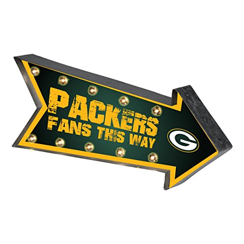 Green Bay Packers NFL Team Logo Light Up Marquee Wall Sign