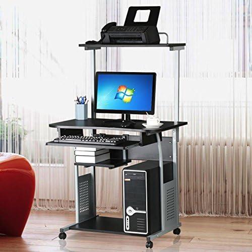 Amazon.com: Escritorio para computadora de dos niveles con ...