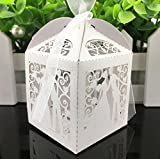 KEANER 50pcs Wedding Party Candy Gift Box