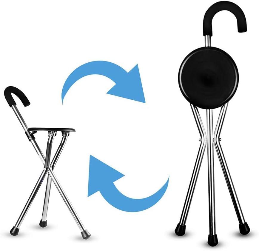 TXDWYF Plegable Aleación de Aluminio Muletas Multifuncionales utilizadas para Caminar Ancianos, Silla para Bastones