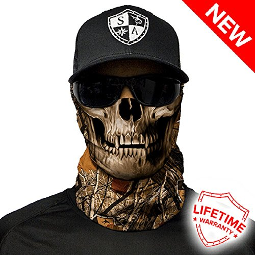 Salt Armour Face Mask Shield Protective Balaclava Alpha Defense (Forest Camo Skull)