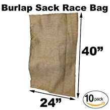 "Burlap Bags for Sack Races- Adult Size - 24"" x 40"" (10 Pack)"