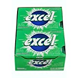 Excel Sugar-Free Gum, Spearmint, 12 Count