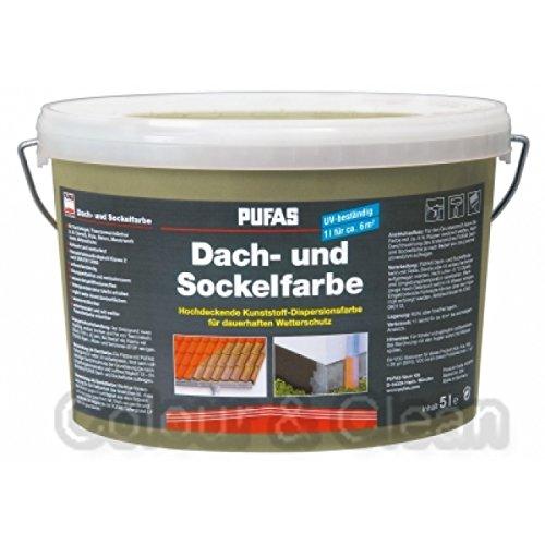 Pufas Dach- u. Sockelfarbe 5L Farbe: Sandsteingelb 959 Dachfarbe Sockel-Anstrich