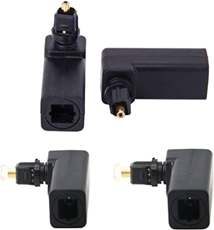 Toslink Female to Optical 3.5mm Mini-Plug right angle 90 degree adapter
