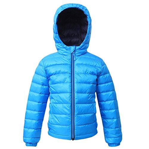 Rokka&Rolla Boys' Ultra Lightweight Hooded Packable Puffer Down Jacket ()