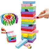LFHT Rainbow Beech Wood Digital Stacked Layers Of Pumping Kids Building Blocks Toys