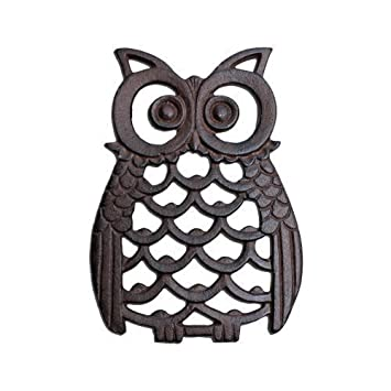 Cast Iron Owl Wall Art Ornament For Garden Or Home In Antique Finish Part 58
