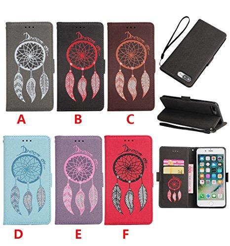 Funda iPhone 7,Funda iPhone 6Plus/6S Plus, Funda iPhone 5/5S/SE,Protector de Pantalla de Slim Case Estilo Billetera con Ranuras para Tarjetas, Soporte Plegable, Cierre Magnético(LXT-06) A