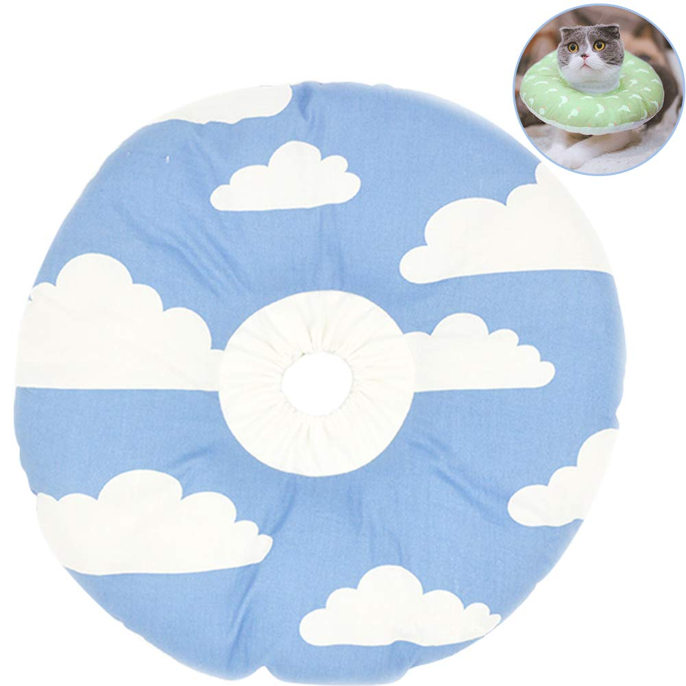 A S A S Creation Core Recovery Pet Cone Collar for Cats and Small Dogs Comfortabe Donut Pattern Elizabethan Cat Collar