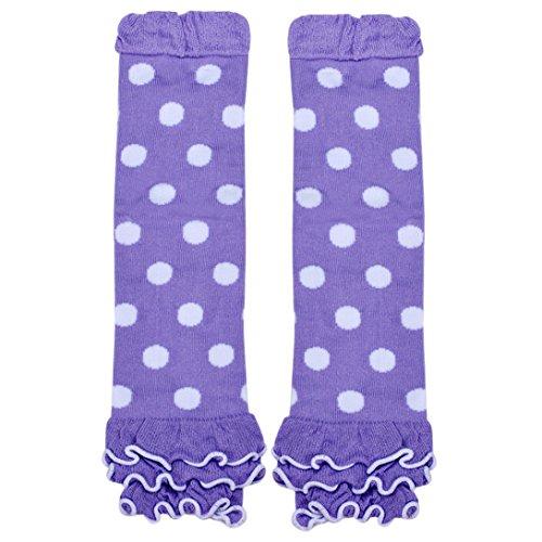 (Wensltd Litle Princess Child Girl Kneepad Socks Polka Dot Leg Warmer (Purple))