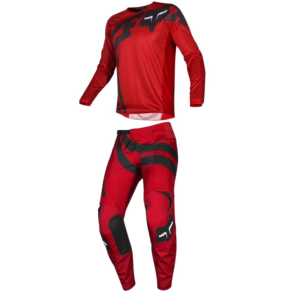Fox Racing 2019 180 COTA Jersey and Pants Combo Offroad Gear Set Adult Mens Red Large Jersey/Pants 32W