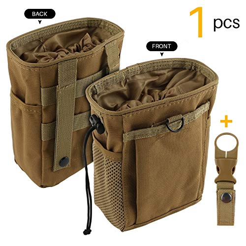 Rock Climbing Chalk Bag - Drawstring Highend Rock Climbing Chalk Bag Carabiner Diferent Pockets for Climbing Bouldering, Gymnastics, Gym Pouch, Cross Fit and Lifting to Securely Hold iPhone and Valuables (Khaki)