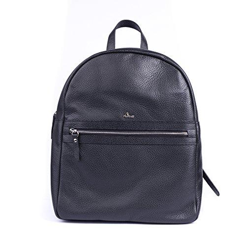 Sac à dos en cuir souple avec fermeture à glissière et bretelles réglables, poche externe Zip.fodert Fabric.   Dimensions: 29 X 12 36h