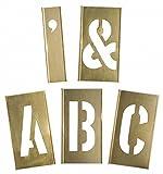 Stencil, Letters, 12'', Brass, 1 EA