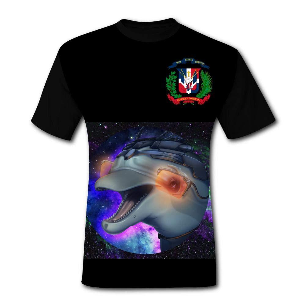 Individual Dolphin Science Fiction Tshirt Printed Fashion Tee Shirt Colorful Skull T-Shirt for Men//Women