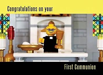 Amazon.com: Ladrillo tarjeta de primera comunión: Office ...