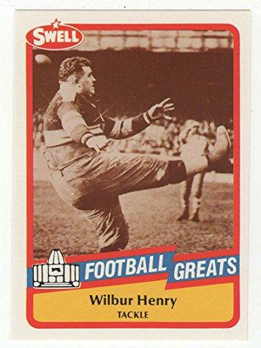 - Fats Henry (Football Card) 1989 Swell Football Greats # 6 MT