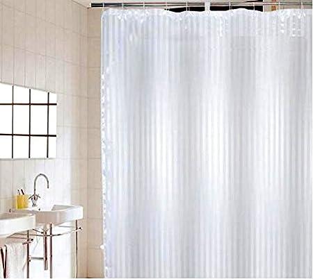 C2B Shower Curtain 180cmx180cm Satin Stripe