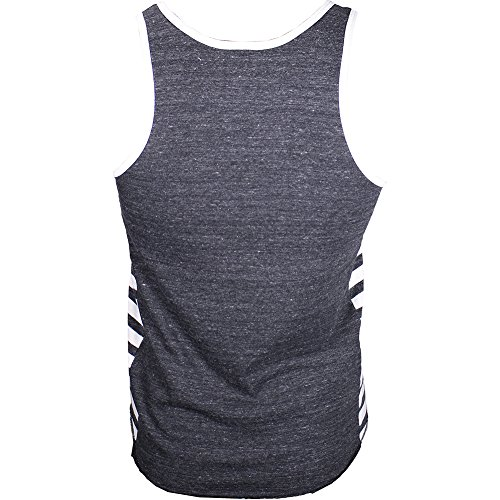 Roots of Fight Iron Mike '88 Triblend Striped Tank Black 2X-Large