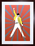 MUSIC PAINTING FREDDY MERCURY QUEEN ILLUSTRATION FRAMED PRINT F97X3447