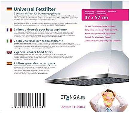 itenga 2X filtros Generales de Campana de 47x57 Ajustables para Todo Tipo de Marcas: Amazon.es: Grandes electrodomésticos