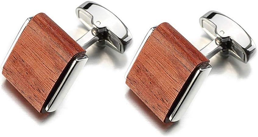 Kanqingqing-Jewellery Gemelos Camisa de Esmoquin de puño Gemelos Cuadrados Estilo de Cobre francés Par de puños de Regalo for Hombres Mujeres: Amazon.es: Hogar