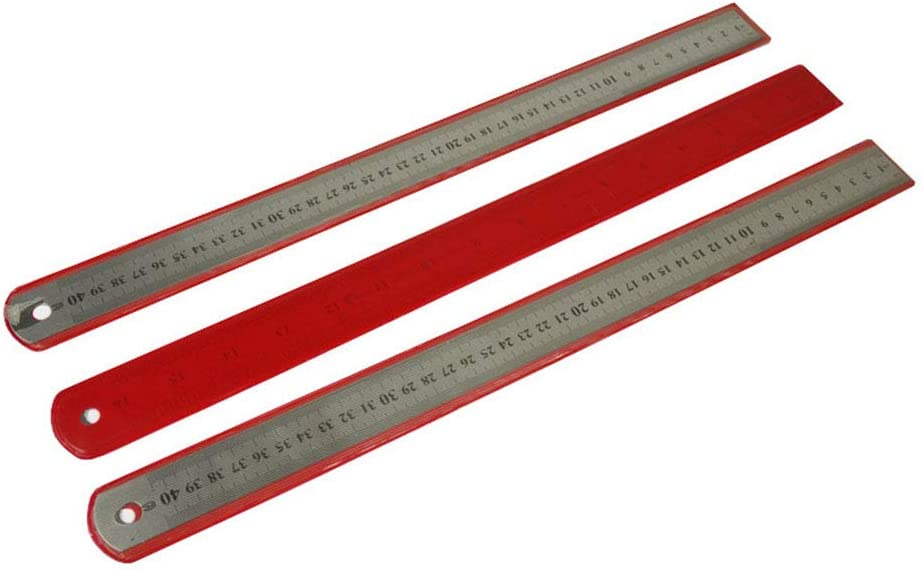 Straight Ruler for Straight line Straight Ruler Straight Ruler Multi-Precision Stainless Steel for Both Sides Measuring Range 40 cm Convenient and Practical