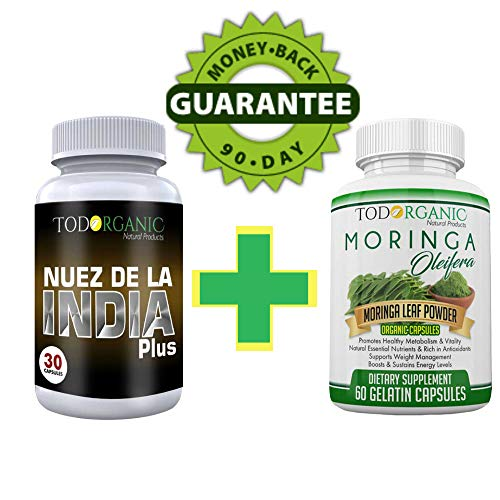 Indian Nut with Chia and Quinoa Plus Moringa Oleifera in Capsules 100% Authentic Fat Burner and Weight Loss The Perfect Combo for Cleanse and Detox (Best Fat Burner In India)