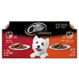 Cesar Canine Cuisine Variety Pack Beef and Chicken & Liver Dog Food, Trays 3.5 Ounces, 12-Count For Sale