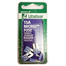 Littelfuse (MIC2015.VP) MICRO2 Blue 32V 15 Amp Blade Fuse, (Pack of 5)